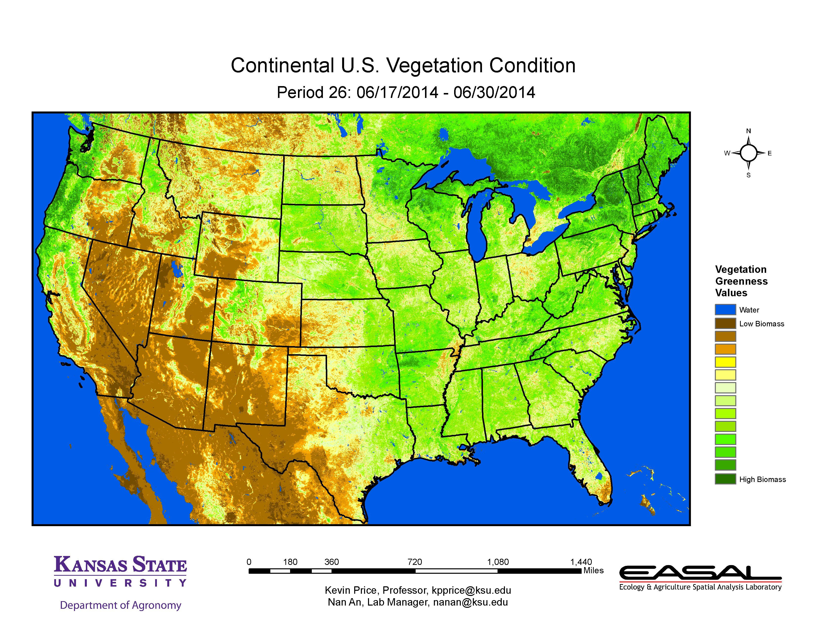KState Agronomy EUpdate Issue July Rd - Us vegetation map